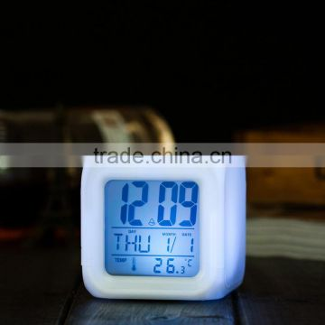 hot selling led color changing alarm clock digital alarm clock promotional gift alarm clock