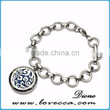 Wholesale Ocean Stainless Steel Aromatheray Diffuser Locket bracelet essential oil