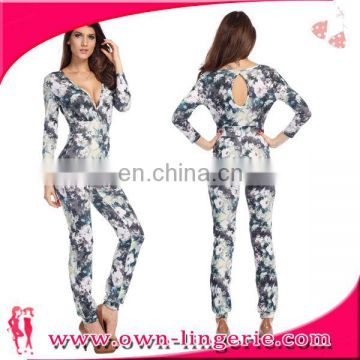wholesale OEM custom cotton ladies formal jumpsuit