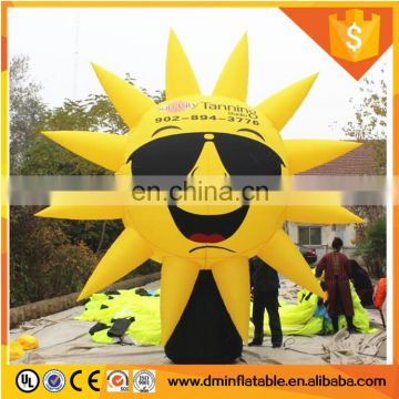 Outdoors inflatable sun replica for advertising