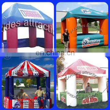 Portable inflatable ticket booth tent for advertisement