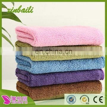 Hot sale double layer thicken bamboo fiber cleaning kitchen towels