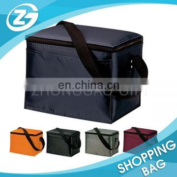 Top Quality Promotion Lunch Freezer Reusable 600D Take Away Food Delivery Shoulder Food Cooler Bag