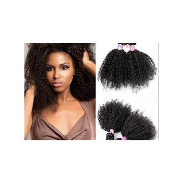 Indian Virgin Indian Curly Natural Black Human Hair Aligned Weave
