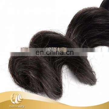 Double drawn weft sample order acceptable virgin human hair extensions