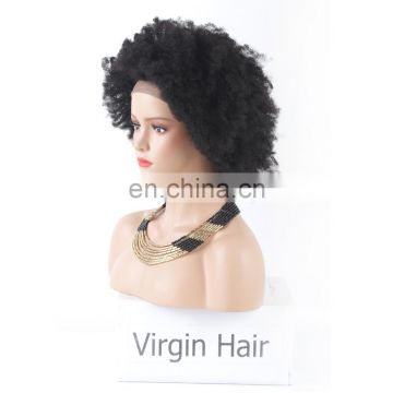Factory price popular side part natural scalp wig kinky hair wig