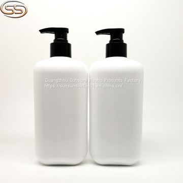 500ml White Plastic PET Bottle For Shampoo and Conditioner Packing