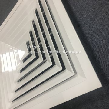 Ventilation aluminium 4 way ceiling square diffuser air diffuser