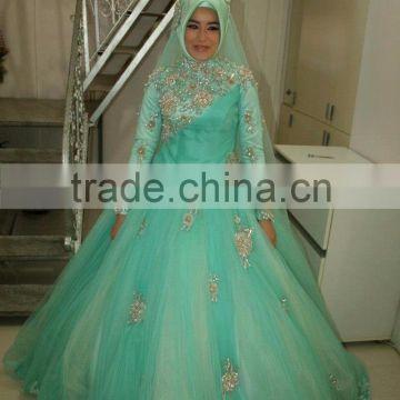 Muslim Wedding Dress Buy Hot Sale Beautiful Mint Green Hijab Wedding Dress Long Sleeve Saudi Arabian Wedding Dress With Lace Applique On China Suppliers Mobile 100503839,Short White Plus Size Wedding Dresses