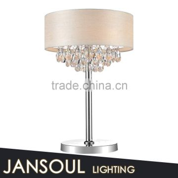 modern european style table lamp crystal home goods crystal chandelier table lamps with wooden look fabric