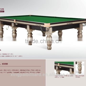 12 Ft Star Steel Cushion WPBSA Approval Snooker Table XW106 12S ...