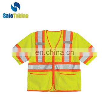 fluorescence safety material for reflective yellow vest ansi 107