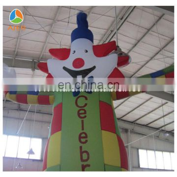 Aier factory outdoor smile clown air dancer, inflatable sky dancer