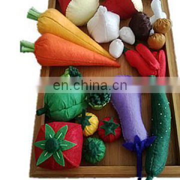 hot selling handmade decoration knitted no woven vegetable stuffed toy plush toy