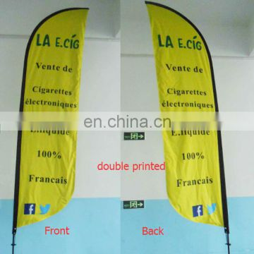 100% polyester promotional teardrop flag (printing your grapihc)