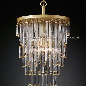 USA style LED crystal chandelier Pendant Light & iron pendant lamp used for home