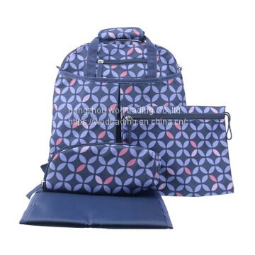 good new blue diaper backpack bag with tote handle