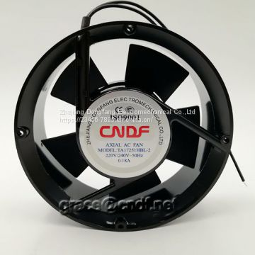 CNDF made in china passed CE provide 2 years warranty good quanlity ac cooling fan elliptic 172x51mm TA17251HBL-1