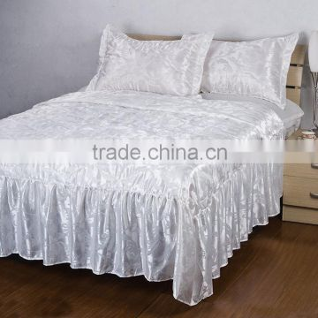 4PCS Factory Wholesale Cheap Price Faux Silk Fabric Bed Sheet/Bedding On Sale                                                                         Quality Choice