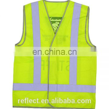100% polyester reflective safety vest