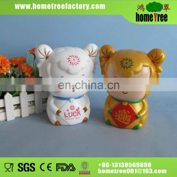 2014 new product plastic coin bank