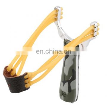 Wholesale Creative Outdoor Toy, Camouflage Stainless,Hunting Slingshot,Funny Toy Slingshot