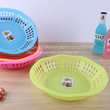Txa 18 Plastic Square Big Size Plastic Fruit Basket Of Plastic
