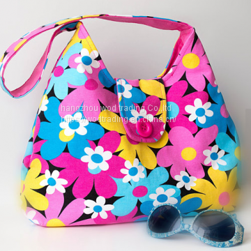 full printed fabric hobo bag with long shoulder