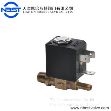 2 way VITON seal Direct acting normally close coffee machine and appliance brass solenoid valve
