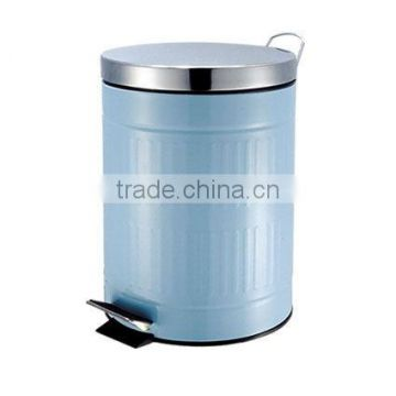 LightBlue Foot Operated Dust Bin Round Pedal Bin Manufacturer