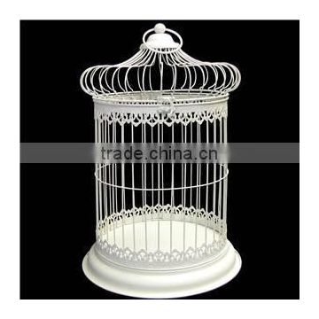 white metal antique decorative metal bird cage