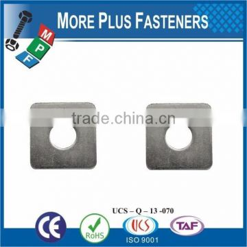 Made in Taiwan High Quality Carbon Material Square Hole Washer for Carriage Bolt DIN436