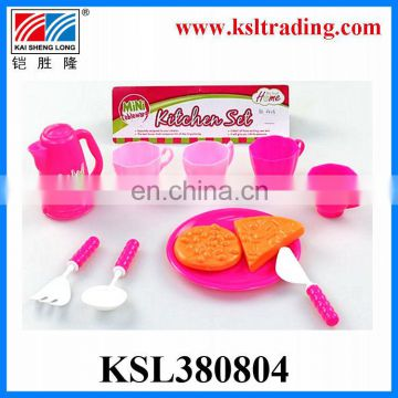 Popular plastic toys kitchen play set