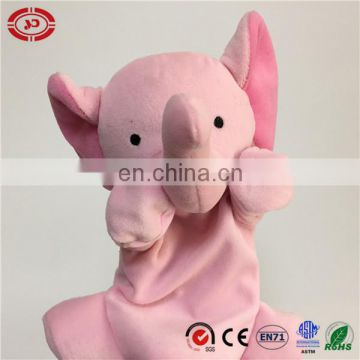 Pink elephant long trunk empty body cute baby hand puppet