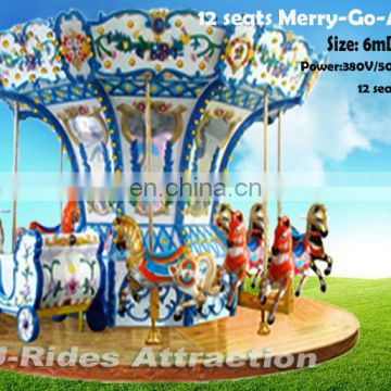 big-sized electric merry-go-round toy carousel horses amusement park run ride