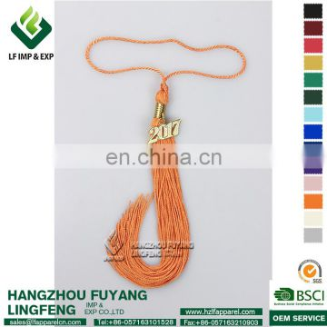 Orange Graduation Tassel with Charms