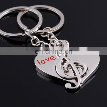 custom metal music note keychain