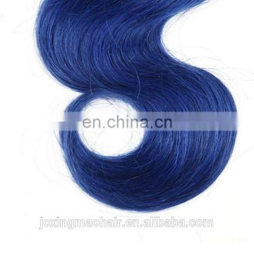 Wholesale 7A Ombre Human Hair Weave Bundles Body Wave 1B/Blue Two Tone Color Brazilian Hair Weave New York Hot Selling
