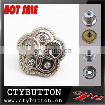 CTY-DP(106) hot sale rhinestone crystal buttons for clothes