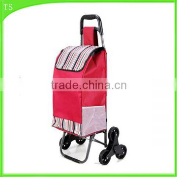 stair shopping cart foldable trolley luggage cart metal shopping bag with wheel                                                                                                         Supplier's Choice