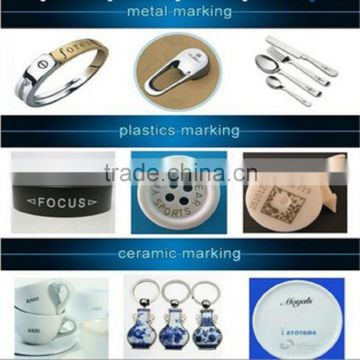 Dowell mini fiber laser marking machine/electronic components marking/mechanical parts marker/high precision in stock