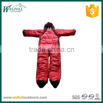 Human style hollow fiber sleeping bag