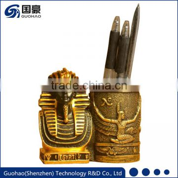 Custom Egyptian Pharaoh statues pen holder