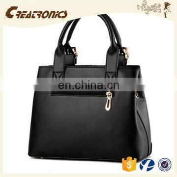 CR Europe market expert recommend tote bag woman handbag dark-blue colors new arrival high quality pu leather tote bag
