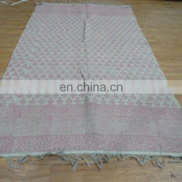 Handmade Indian Floor Rug Chindi Rag Rug Hand Woven Dari