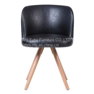 Modern Wooden Living Room Furniture Leisure Chair  pu dining chair
