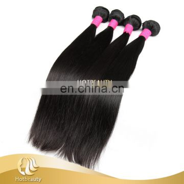 Natural black brizilian virgin hair bundles with closure