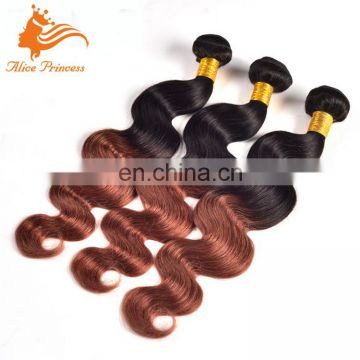 7A Peruvian Hair Ombre Human Hair Extension Color 33 Body Wave Virgin Hair Weave