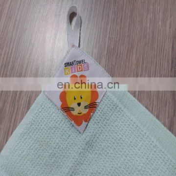 100% cotton super absorbent kids cartoon hanging towel