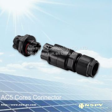 Solar AC3P and 5P connector with TUV approval  for solar inverter